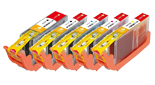 Combo Pack PGI-250XL/CLI-251XL (2 BLK+3 CLR) With Chip